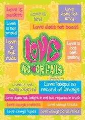 Love Never Fails Christian Poster