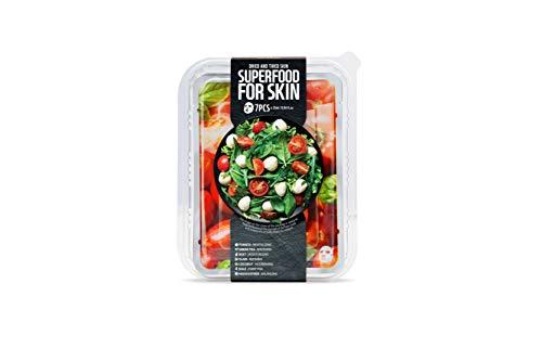 Superfood - Gesichtsmasken Beauty Set mit Tomaten, Masken Set für jeden Tag der Woche - Koreanische Kosmetik, Superfood Salad for Skin (1 x 7stk.)