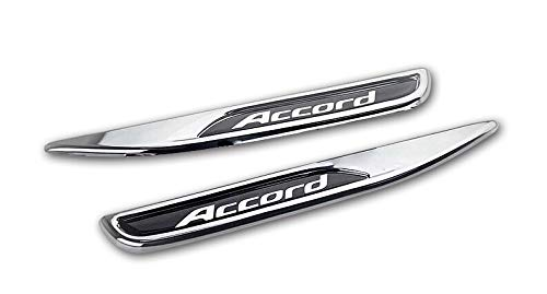 AUTO-P is suitable for Honda Accord 2014-2017 car exterior accessories modeling 2 sets of car fender stickers (ABS plating) (Honda Accord 2dr Carbon Fiber)