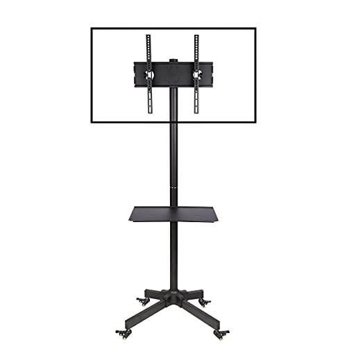 Ergosolid Soporte con Ruedas Ajustable Universal para TV LCD LED, 32'- 55' (81 a 140 cm de diagonal), Inclinación, Negro con VESA máx. 400 x 400 mm, hasta 25 kg