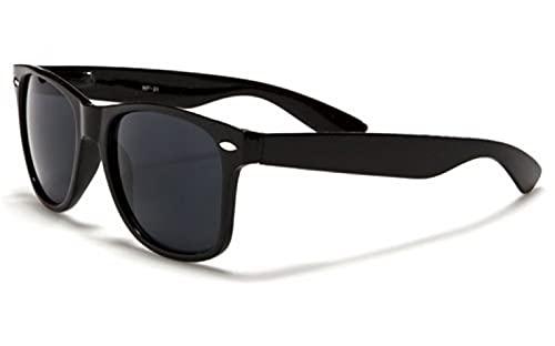 FIKO WAY - Gafas de sol bicolor tipo polarizadas - Gafas de sol clásicas unisex - Hombre y mujer vintage (BLACK)