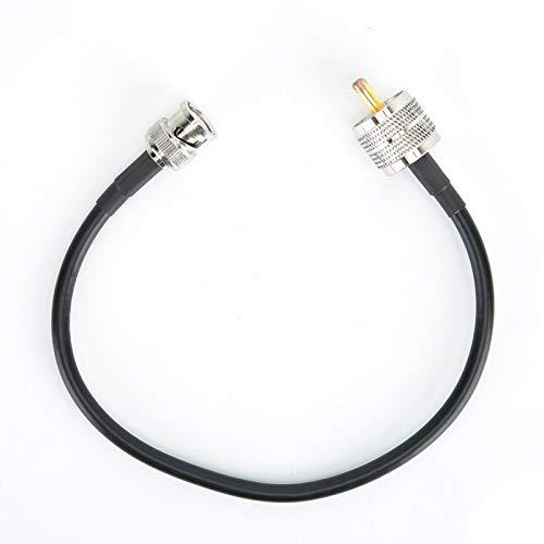 DAUERHAFT BNC-Kabel mit UHF-Konvertierungsleitung Verlustarmes, langlebiges reines Kupfer mit hoher Frequenz und niedriger Impedanz für Koaxialkabel, für UHF-Stecker, für Antennen und für Externe