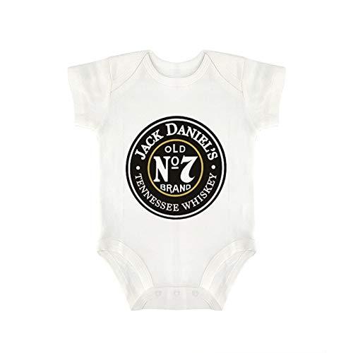 Jack-Daniel's Old No.7 Baby Boys&Girls Cotton-Onesies Toddler Short Sleeve Bodysuits Pajamas(0-2T)