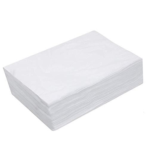 Mobestech 20 Stück Massageliege Auflage Einweg Bettlaken Weiße Einmalunterlagen Vliesstoff Behandlungsliege Massageliege Bezug Liegenbezug Kosmetik Salon SPA Schönheitssalon Zuhause
