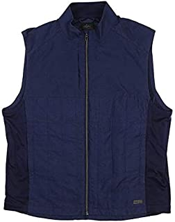 Greg Norman New Mens Crescent Quilted Full Zip Vest Large L Dark Night G7F8V680