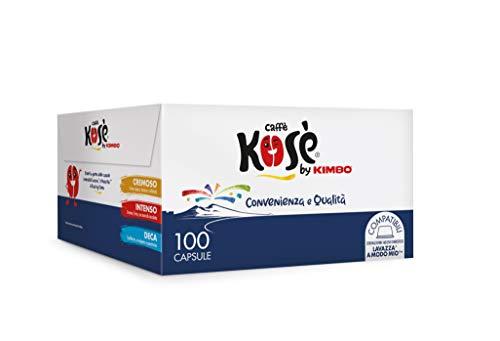 Kosè by Kimbo Capsule Cremoso, Compatibili Lavazza A Modo Mio, 100 Pezzi