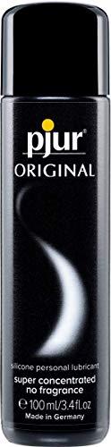 pjur ORIGINAL - Premium Silikon-Gleitgel - lange Gleitfähigkeit ohne zu kleben - sehr ergiebig und für Kondome geeignet - 1er Pack (1 x 100ml)