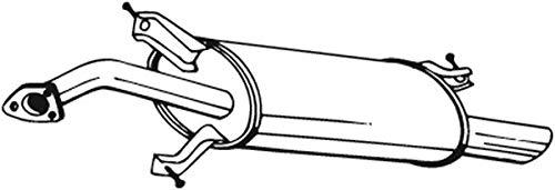 Endschalldämpfer (1220-1514) Dämpfer Abgasanlage Auspufftopf