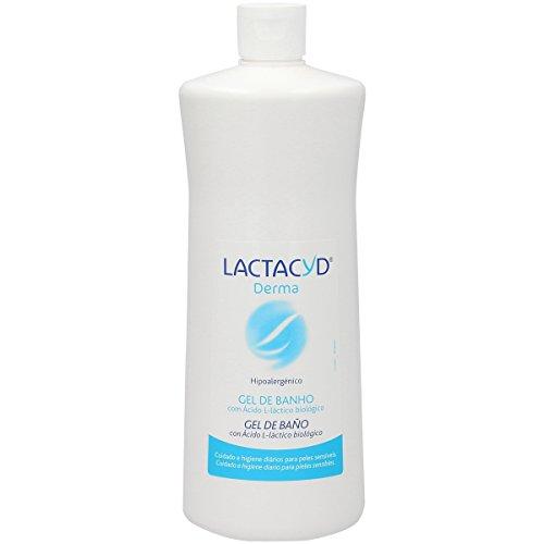 Lactacyd Derma - Gel de Baño, Sin Jabón, Hipoalergénico, preserva las defensas naturales de la piel, 1000 ml