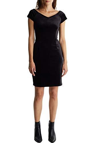 edc by ESPRIT Damen 119CC1E007 Kleid, Schwarz (Black 001), X-Large (Herstellergröße: XL)