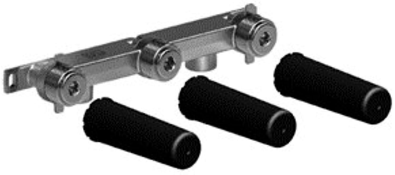 Dornbracht Tara Spültisch-Wandbatterie Auslauf rechts 3571497090 - UP-Krper, DR-Messing - 2x