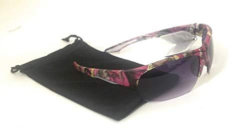 Vertx Camo Camouflage Western Ladies Sunglasses + Drawstring Case (Fushia Pink)