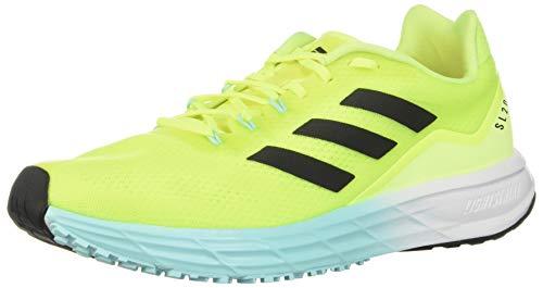 adidas Men's SL20 Running Shoe, Solar Yellow/Black/Aqua, 9.5