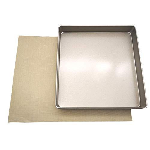 POKALI 11x11x1.5inch Carbon Steel Square Nonstick baking sheet cake pan,Angel Food Cake and Cheesecake Bakeware Pans,Square Bakeware Roasting Tray (11inch)