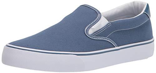 Lugz womens Clipper Classic Slip-on Fashion Sneaker, Blue/White, 8.5 US