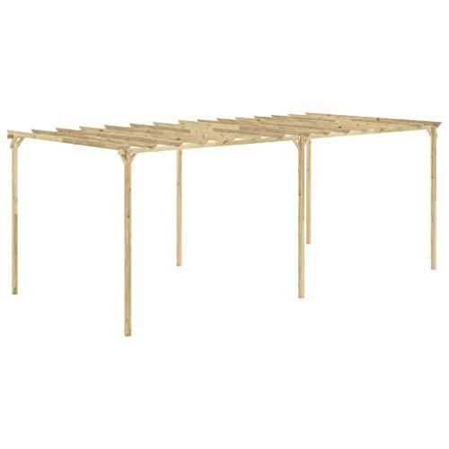 vidaXL Pérgola de jardín de madera de pino impregnada 588x294x220 cm