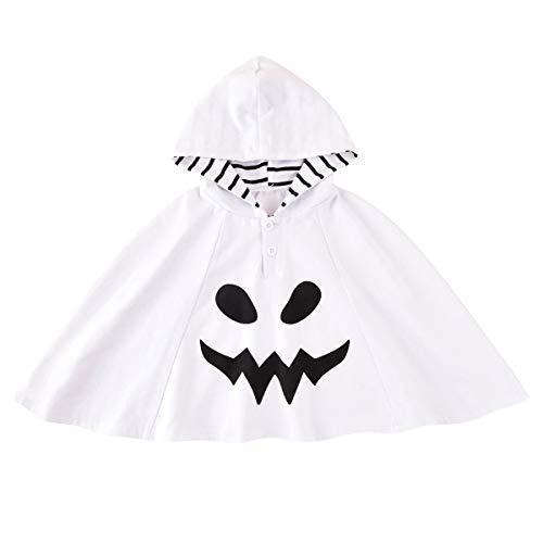 GRNSHTS Unisex Baby Halloween Clothes Toddler Kids Hooded Ghost Face Cloak Halloween Costume Shawl (Halloween Cloak, 2-3T)