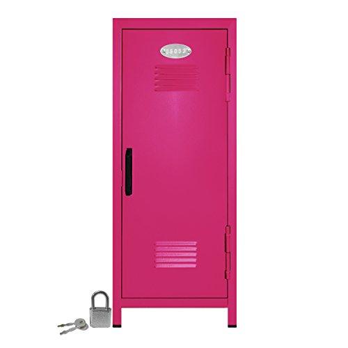 Mini Locker with Lock and Key Hot Pink -10.75' Tall x 4.125' x 4.125'