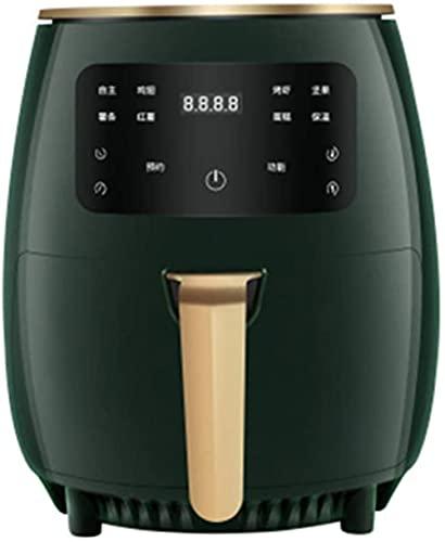 HHORB Freidora De Aire De 4.5L 1200W Cesta Antiadherente con Temporizador De Pantalla Digital para Una Cocina Saludable Sin Aceite Y Baja En Grasa, Rojo,Verde