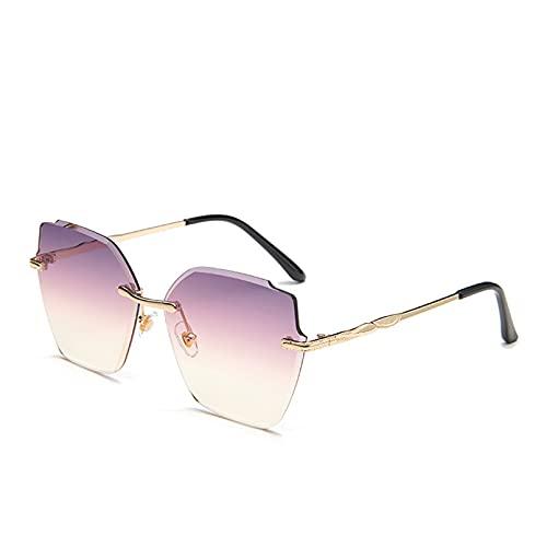 LUOXUEFEI Gafas De Sol Gafas De Sol Sin Montura Gafas De Sol Femeninas Sin Montura Gafas De Sol Gafas De Sol