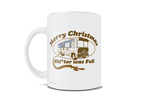 National Lampoon's Christmas Vacation – RV – Shitter's Full – One 11 oz Coffee or Tea Mug – Perfect for Gifting or Collecting – Officially Licensed Merchandise