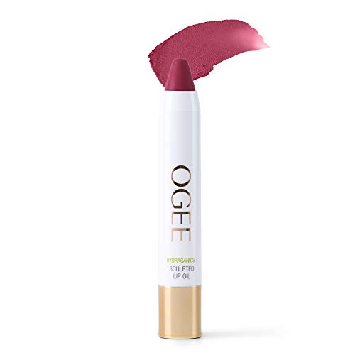 Ogee Tinted Sculpted Lip Oil - Made with 100% Organic Coconut Oil, Jojoba Oil, and Vitamin E - Best as Lip Balm, Lip Color or Lip Treatment - Begonia