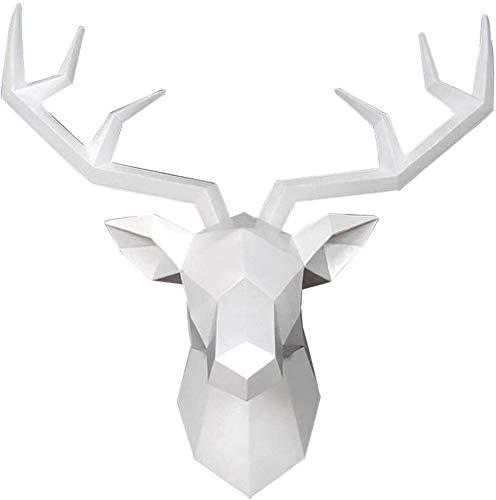Sala De Estar Cierre Geométrico Cabeza Escultura Estructuras Estatuas Muebles Para El Hogar Figuras Artesanía Artesanía Decoración Ornamento Decoración De La Pared Colgando Bar Creative 3D Animal Esta