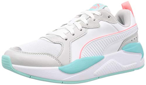 PUMA X-Ray Game, Sneaker Unisex-Adulto, White White/Gray Violet/Aruba Blue/Salmon Rose, 40 EU
