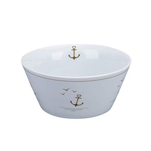 Krasilnikoff - Conical Bowl, Müslischale - Maritime - Porzellan - H6 x Ø13,2 cm - Volumen: 400 ml