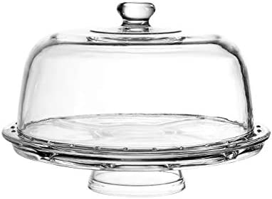 Royalty Art European Cake Stand with Dome 6 in 1 Design Multifunctional Serving Platter for product image