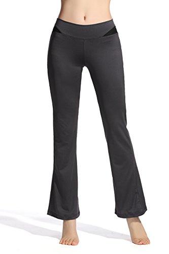 Lotus Instyle Yogaleggins für Damen mit dehnbarem Knöchel und Schlag Gr. XL, grau
