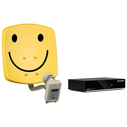 TechniSat Digidish 33, Universal-Twin-LNB, Smiley-gelb