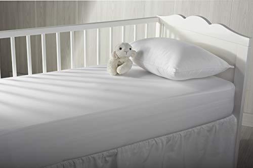 Pikolin Home - Protector de colchón para cuna 100% algodón de punto extra suave con membrana impermeable y transpirable Smartseal®