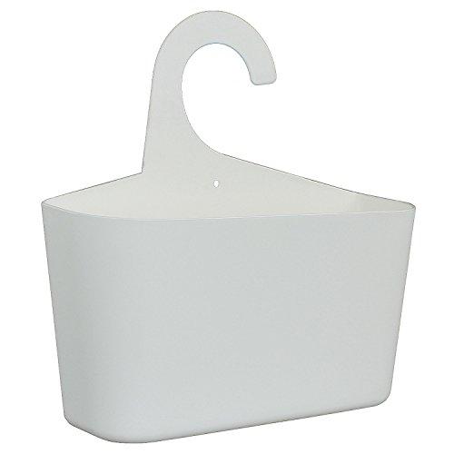 meberg LA05 Duschkorb zum Hängen Duschregal Weiß Badregal Utensilo Aufbwahrungskorb Hängekorb Duschkorb Hängeregal (1 Stück Weiss)