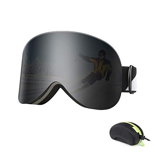 BFULL Skibrille für Herren Damen und Jugend, Magnetische Wechsellinse, Schneebrille mit Antibeschlag und 100% UV400 Schutz, Helmkompatible und Blendfreie Snowboardbrille fur Brillenträger