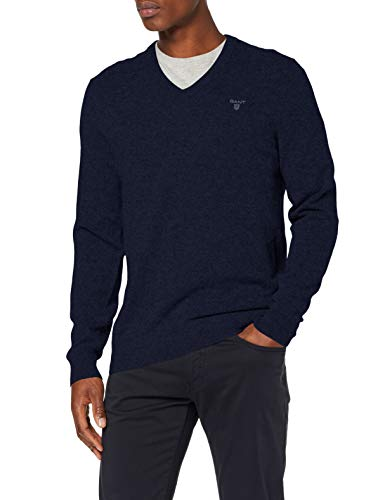 GANT MD. Extrafine Lambswool V-Neck Suéter pulóver para Hombre