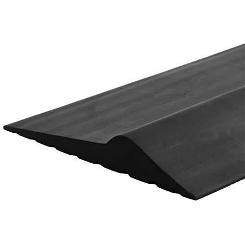 Weatherproof Universal Garage Door Bottom Threshold Seal Strip DIY Weather Stripping Replacement,Not Include Sealant/Adhesive (10Ft, Black)