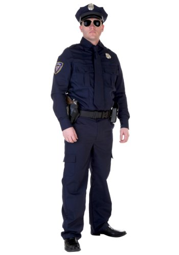 Authentic Cop Costume Standard Blue