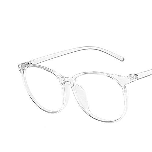CHENGTAO Marco Redondo Glasses Mujeres Retro Gafas Marcos Mujeres Azul Luz Borrar Lente Lente Marco (Frame Color : Transparent)