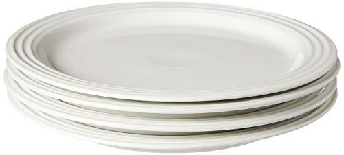 Le Creuset PG9200S4-2716 Dinner Plates (Set of 4), 10.5', White