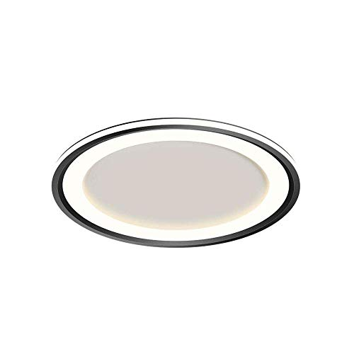 Home Plafón LED redondo ultrafino de 40 cm, 50 cm, 60 cm, empotrable, 50 W, 61 W, 71 W Nordic Light, lámpara de techo de diseño de lujo, 3000 K / 6000 K.