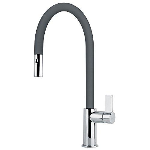 FRANKE Graphite Kitchen Sink tap Made of Granite (Fragranite) spout Ambient Pull 115.0289.518