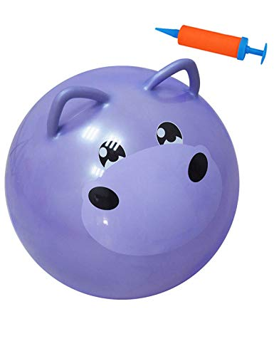 YHSBUY Space Hopper Ball for Kids 3-6,Hippo Bouncy Ball with Handle, Hippity Hop Balls 18