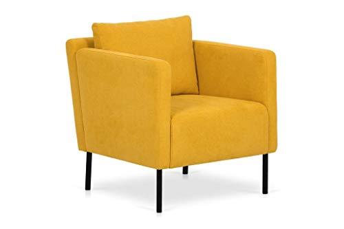 SLAAP Sofa & Chaise - Butaca Estilo Moderno Color Amarillo. Medidas: 71x80x72cm.