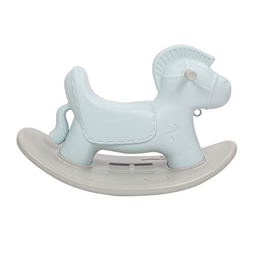 JOYMOR Kids Rocking Horse, Infant Ride-on Chair Animal Rocker Toddler Ride Toy for Baby Ages 12 Months and up Indoor Outdoor, Nursery Child Birthday Gift(Blue)
