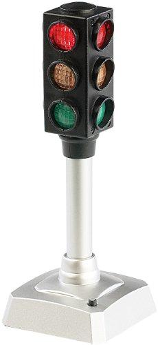 PEARL Stimmungsampel: LED-Verkehrsampel, batteriebetrieben, blinkt auf Knopfdruck (Büro Ampel)