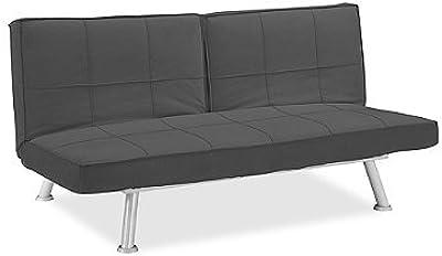 Amazon.com: Artdeco Home Anaheim Modern Sofa Futon (Dark ...