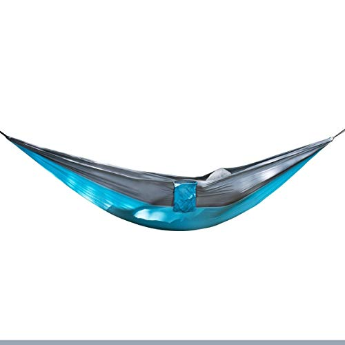Jun7L Lightweight Outdoor Hammock With Mosquito Net Parachute Hammock Swing Suitable For Garden Travel Camping Travel Camping Hammock (Color : Sky grey, Size : 270x140cm)