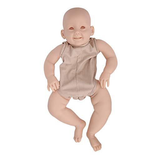 Kits de muñecas Reborn sin pintar, 28 pulgadas DIY Realista hecho a mano Kits de muñecas Reborn en blanco Kit de bebé Reborn que incluye cabeza, piernas, brazos, cuerpo de tela para principiantes