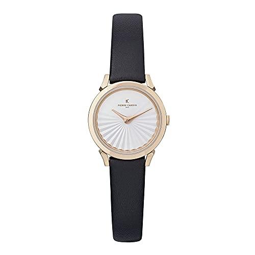 Pierre Cardin CPI.2501 - Reloj de pulsera para mujer (cuarzo, acero inoxidable, correa de piel)